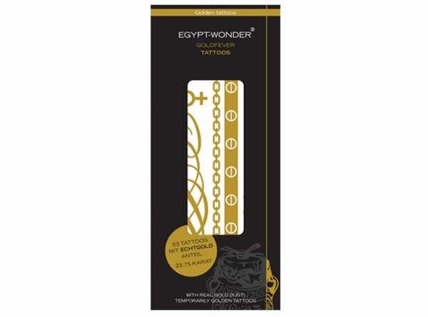 Tattoos EGYPT-WONDER® Goldfever Tattoos von Tana® COSMETICS